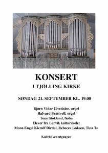 Plakat Orgelkonsert 21.09.14