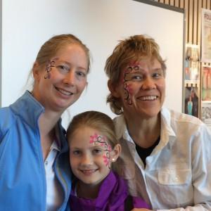 Tre glade musikere etter Barock'n roll-konsert med Larvik kulturskole.