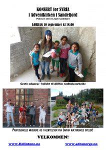 Konsert for å hjelpe Syriske barn med utdannelse