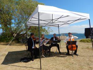 Bryllup, vielse, strykekvartett