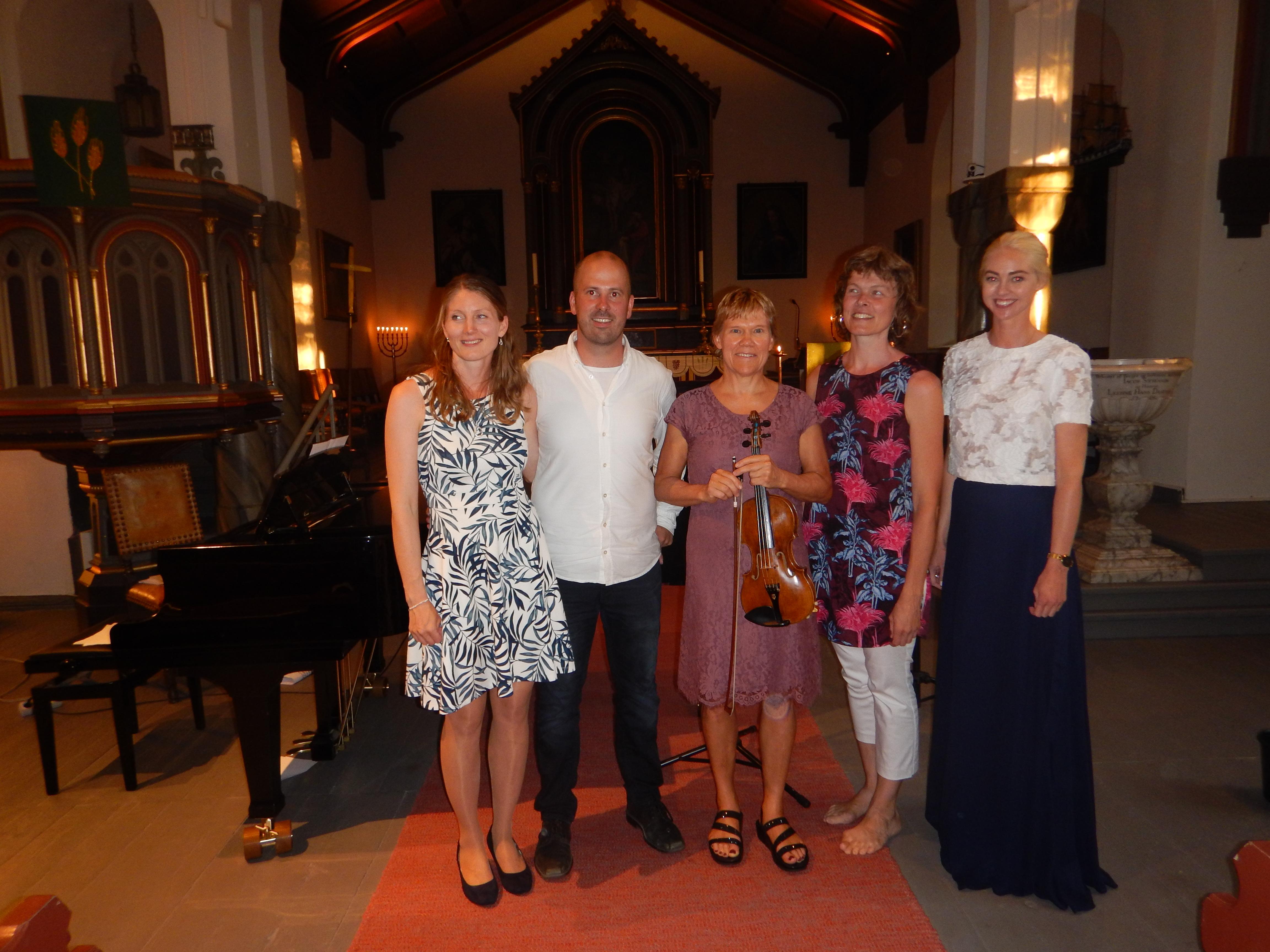 fiolin, sang, fløyte, piano, orgel