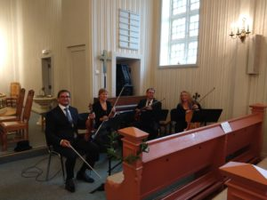 Vestfold strykekvartett spiller i bryllup