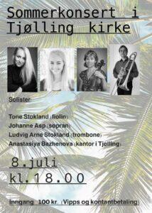 Sommerkonsert i Tjølling kirke